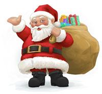 Dec. 25- Happy Hoho Days! I saw Melania kissin' Santa Claus!